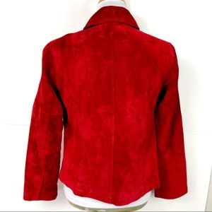 Chico's Jackets & Coats - {NWT} Chico's Ruffled Suede Jacket